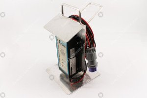 Aluminum battery charger holder