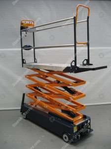 Stenomic piperail trolley 4-scissor