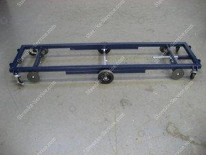 Transportwagen staal 242 cm.