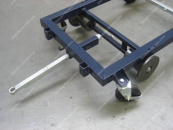 Transportwagen staal 242 cm.   Afbeelding 3