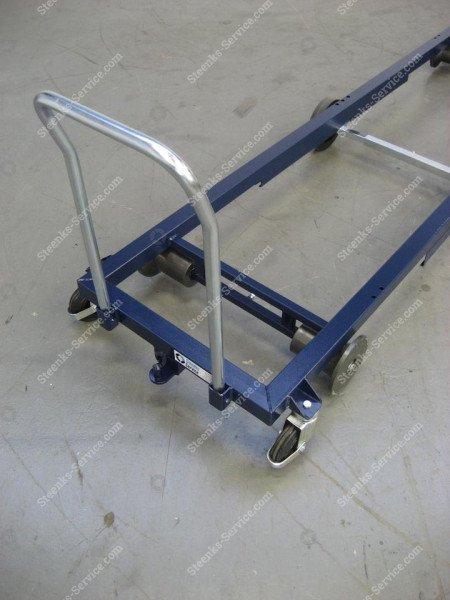 Transportwagen staal 242 cm.   Afbeelding 4