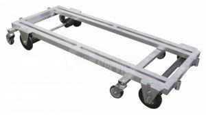 Transport trolley aluminum 127 cm.
