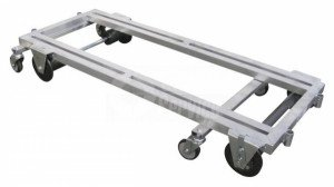 Transport trolley aluminum 150 cm.