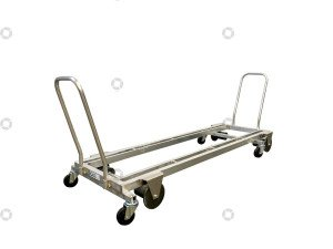 Transport trolley aluminum 187 cm.