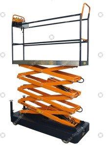 Pipe rail trolley Benomic 4-scissors