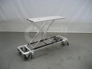 Transport trolley + brake alum. 127 cm.
