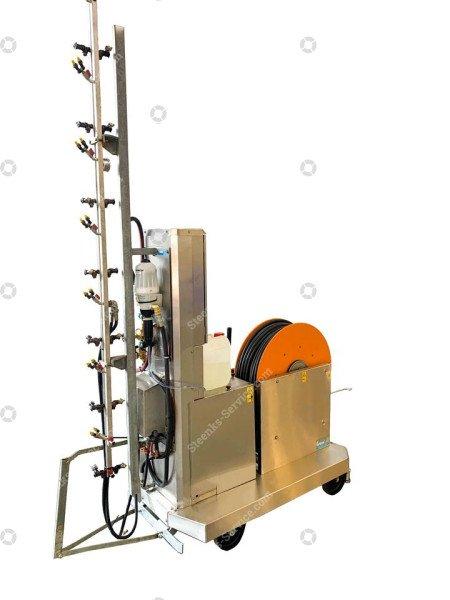 Spuitrobot Meto + chloor dosatron