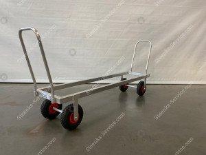 Transportwagen Aluminium op luchtbanden