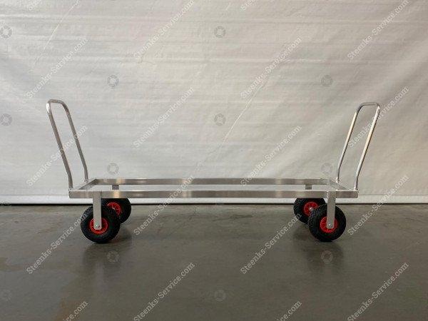 Transportwagen Aluminium op luchtbanden   Afbeelding 2