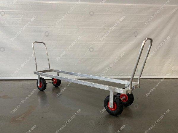 Transportwagen Aluminium op luchtbanden   Afbeelding 3