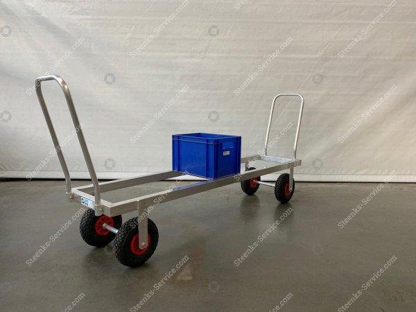 Transportwagen Aluminium op luchtbanden   Afbeelding 5