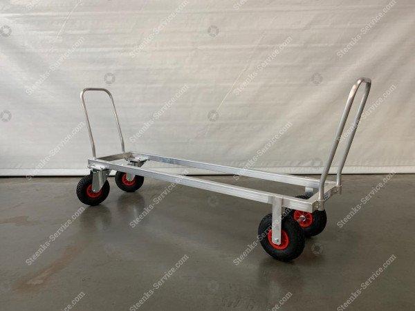 Transportwagen Aluminium op luchtbanden | Afbeelding 3