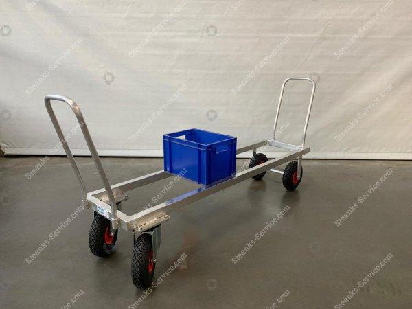 Transportwagen Aluminium op luchtbanden | Afbeelding 5
