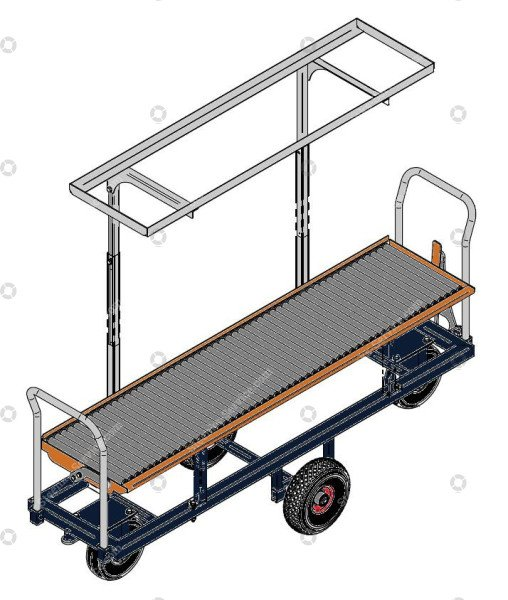 Harvest trolley tomatoes pneumatic tires