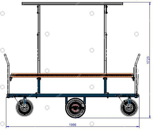 Harvest trolley tomatoes pneumatic tires   Image 2