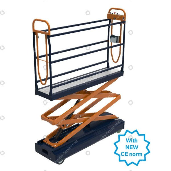 Pipe rail trolley Benomic S350 2 scissor
