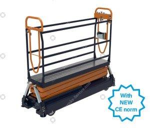 Pipe rail trolley Benomic S500 3 scissor
