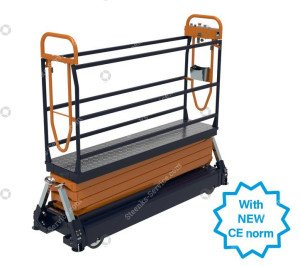Pipe rail trolley Benomic S660 4 scissor