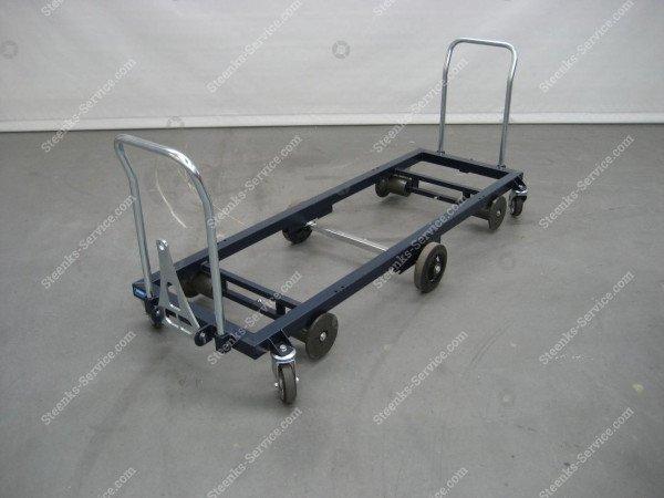 Transportwagen staal 187 cm.