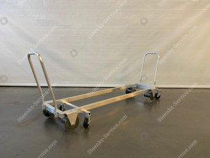 Transport trolley aluminium 187 cm.