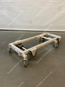 Transport trolley aluminium 127 cm.