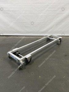 Transport trolley aluminium 200 cm.