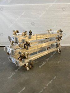 Transport trolley aluminium 190 cm.