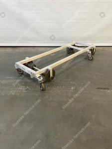 Transport trolley aluminium 150 cm.