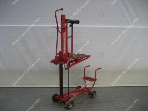 Pipe rail trolley bicycle