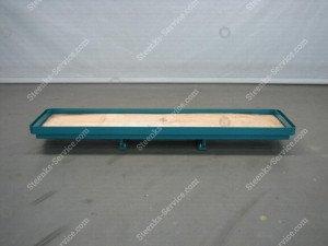 Slidable rack for crates BergHortimotive