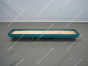 Slidable rack for crates BergHortimotive