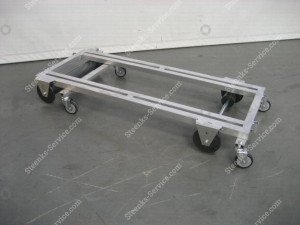 Transport trolley with brake aluminum