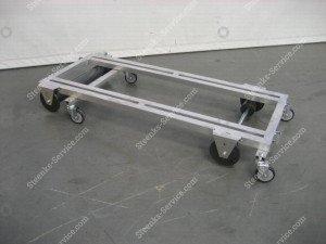 Transportwagen met rem aluminium