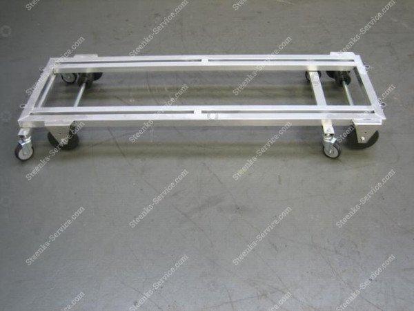 Transportwagen met rem aluminium   Afbeelding 2