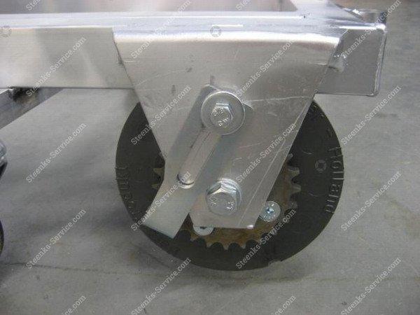 Transportwagen met rem aluminium   Afbeelding 3