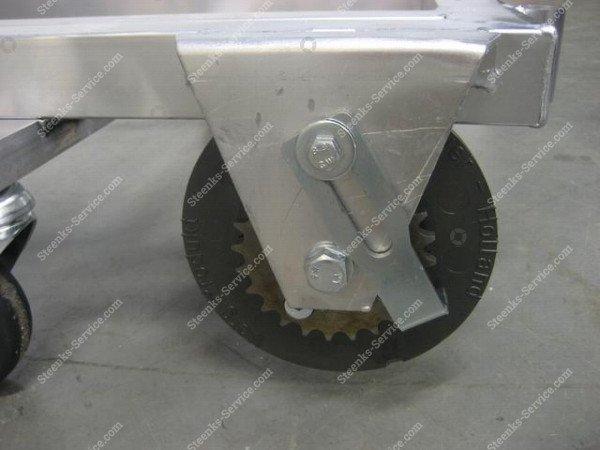 Transportwagen met rem aluminium | Afbeelding 4