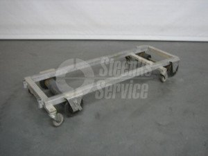 Transport trolley with brake aluminium