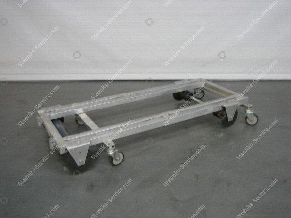 Transportwagen met rem aluminium | Afbeelding 2