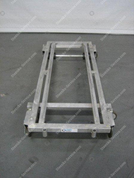 Transportwagen met rem aluminium | Afbeelding 3