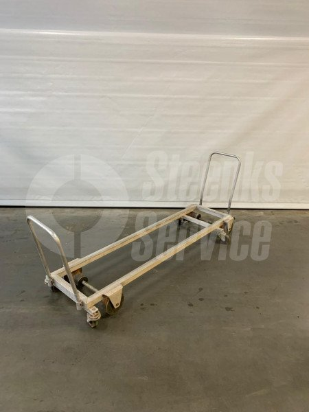 Transport trolley aluminium 187 cm.