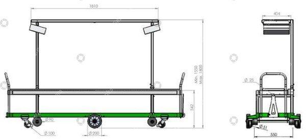Erntewagen Reben Tomaten Greencart THC-H | Bild 2