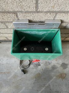 Desinfektionsbehälter Rohrschienenwagen