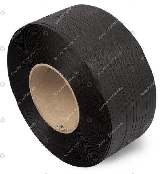 PP omsnoeringsband zwart 12x0.63